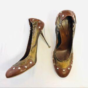 Metallic Studded Heels